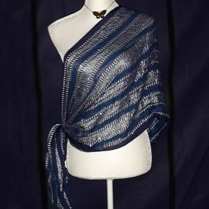Charming Charlie scarf blue/silver infinity style